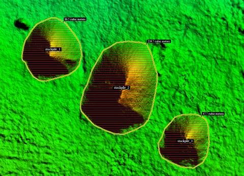 Kahuto Pacific_Aerial Surveys_Stockpile volume mesurement