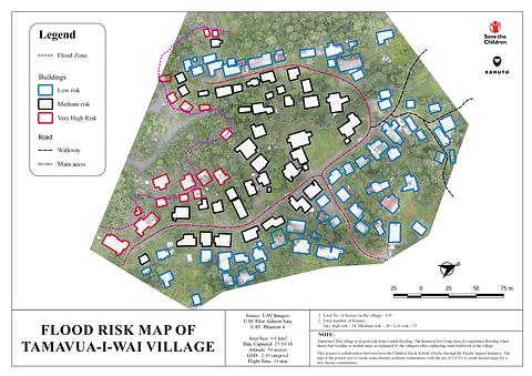 Kahuto Pacific_Drone Services_FLOOD RISK MAP OF TAMAVUA-I-WAI-VILLAGE (ortho)